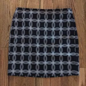 Banana Republic Geometric Straight Midi Skirt 6